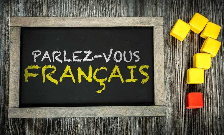 "On a tablet it says ""Parlez-vous français?"", Do you speak French?"